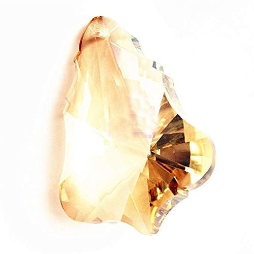 chenran Zubehör 20pcs 63mm Champagne Gourd Glaskristall Prisms Suncatcher Gehänge for Leuchter Spectra Lustres Lampe hängend Drops Geschenk