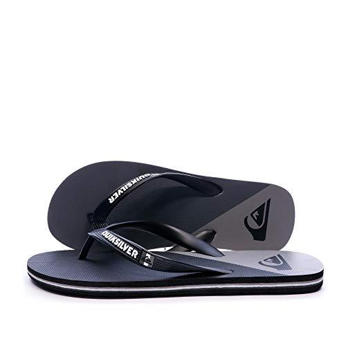 Quiksilver Molokai New Wave, Zapatos de Playa y Piscina Hombre, Negro (Black/Grey/Black Xksk), 44 EU
