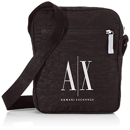 Armani Exchange Herren Crossbody Business Tasche, Schwarz (Nero-Black), 26x5x21 cm