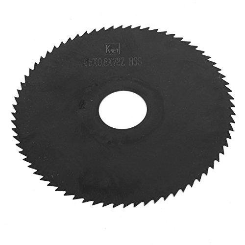 Sierra de metal HSS 125 mm x 0,8 mm x 72 dientes negro