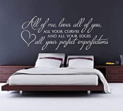 Best Design Amazing Decals All of me Loves All of You Wall Sticker John Legend Vinyl Wall Decal Bedroom Wall Sticker Song ...