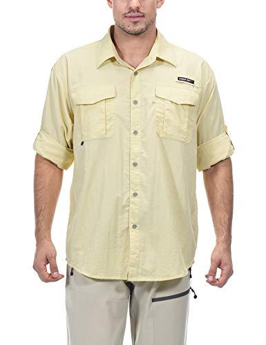Little Donkey Andy Camisa de manga larga para hombre, protección UV, transpirable y de secado rápido