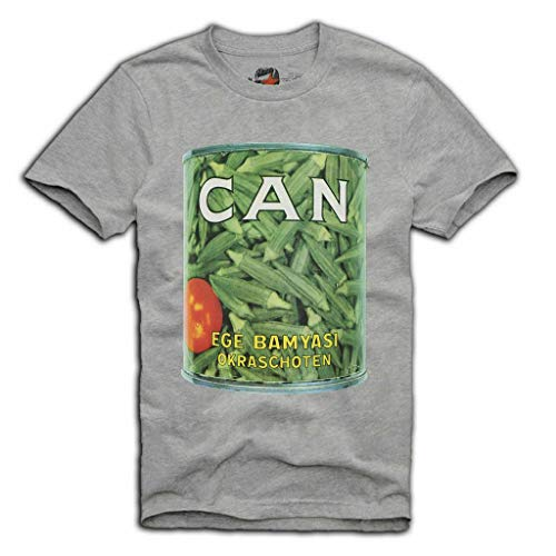 CAN Album Band Music T-Shirt EGE BAMYASI PROG Rock KRAUTROCK, Gris, X-Large