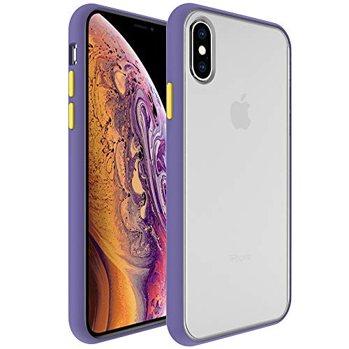 InUnion Protective Case for iPhone X and Xs case with PC Back and Soft TPU Bumper Compatible with iPhone X and Xs 5.8 Inch - Amethyst