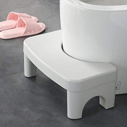 Sgabello da toilette SHOH – corretta postura per risultati migliori e più sani. Adatto a tutti i WC e bagni. Sgabello per WC, in plastica, pratico e compatto