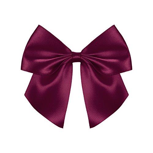2 schöne weinrote Selbstklebende Geschenkschleife, Schleife Macht Ihr Geschenk zum Hingucker