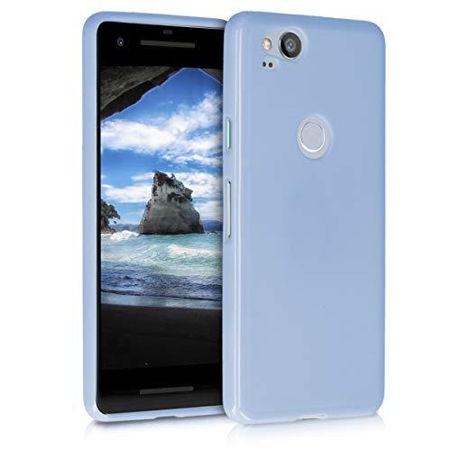 kwmobile Hülle kompatibel mit Google Pixel 2 - Handyhülle - Handy Hülle in Hellblau matt