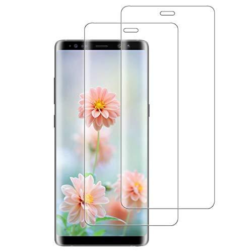 XSWO 2 Unidades Cristal Templado para Galaxy Note 8, Protector de Pantalla para Samsung Galaxy Note 8, [3D Cobertura Completa] [9H Dureza] [Sin Burbujas] [Anti Huella Digital] Vidrio Templado