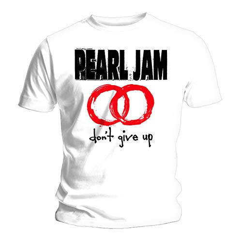Probity White Pearl Jam Don't Give Up Eddie Vedder Oficial Camiseta para Hombre (Small)