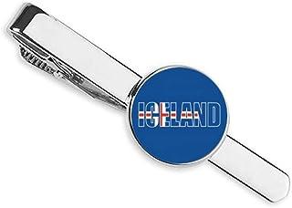 ربطة عنق بعلم دولة أيسلندا مشبك شريط رجال الأعمال
