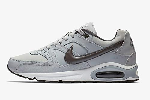 Nike Herren AIR MAX Command Leather Laufschuhe, Grau (Wolf Grey/MTLC Dark Grey/Black/White 012), 44 EU