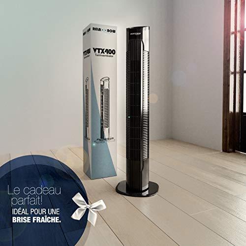 50W Multi Touch Display Turmventilator extrem leise mit Fernbedienung zur Kühlung mit Zeitschaltuhr   Deutsche Qualitätsmarke  78cm Säulenventilator sehr leise + 3 Stufen   RelaxxNow VTX400 Ventilator