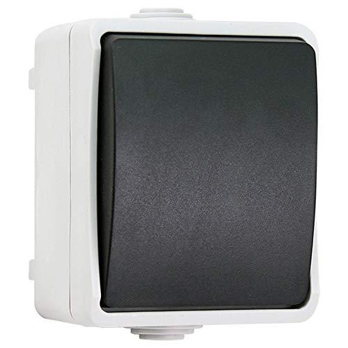 Interruptor Impermeable IP44 a Prueba de Agua Cuarto de baño Cocina Interruptor de Control Individual, Enchufe de la UE, Monsteramy