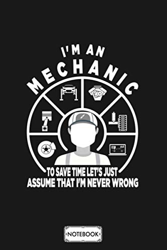 Mechanic Car Mechanic Profession Mechanical Notebook: Diary, Matte Finish Cover, Journal, Planner, 6x9 120 Pages, Lined College Ruled Paper