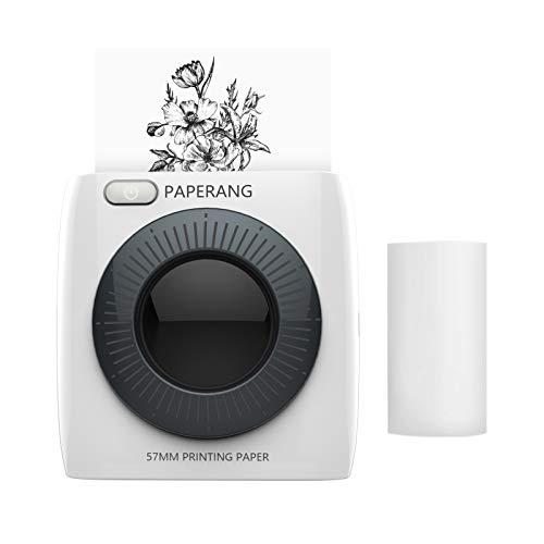 PAPERANG P2 Mini Impresora de Bolsillo Impresora inalámbrica Bluetooth Impresora térmica portátil 300dpi para Foto Imagen Recibo Nota Nota Etiqueta Adhesiva Compatible con Android iOS Windows Mac