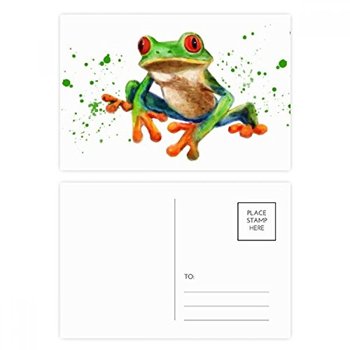 DIYthinker Polypedatid grüne Frosch-Postkarten-Set Geburtstag dankt Karte Mailing Side 20pcs 5.7 Zoll x 3.8 Zoll Mehrfarbig