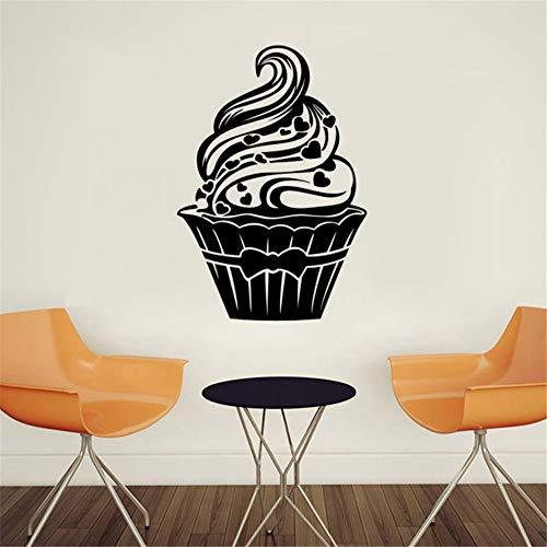 Muursticker kinderkamer wandtattoo slaapkamer dessert gourmet ijs cream cake restaurant keuken wooncultuur 59.7 x 89.7 cm