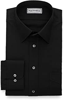 Men's Tailored Fit Non-Iron Cotton Solid Point Collar...
