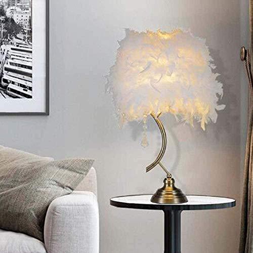 Lámpara De Mesa De Plumas Nórdica Blanca Duradera Lámpara De Noche De Lámpara De Mesa Sencilla Y Elegante Estilo Europeo Sala De Estar Creativa Decoración De La Mesa De La Mesa De La Mesa Hyococ