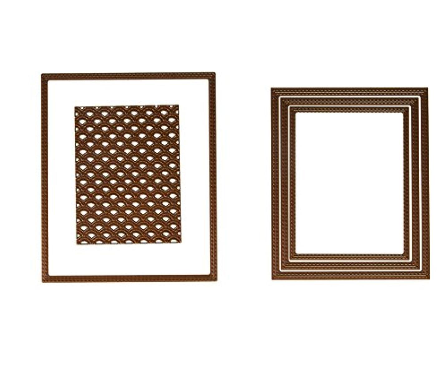 Sue Wilson Shadow Box Scalloped Lattice Frames