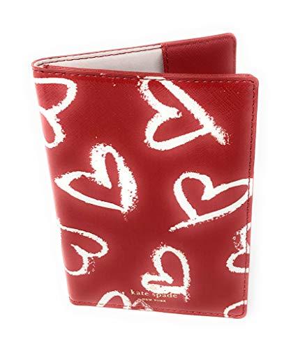Kate Spade New York Imogene Laurel Lipstick Hearts Passport Holder Case