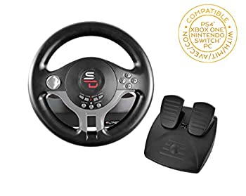 Superdrive - Racing Steering Wheel Driving Wheel SV200 with pedals and shift paddles for Nintendo Switch - PS4 - Xbox One - PC