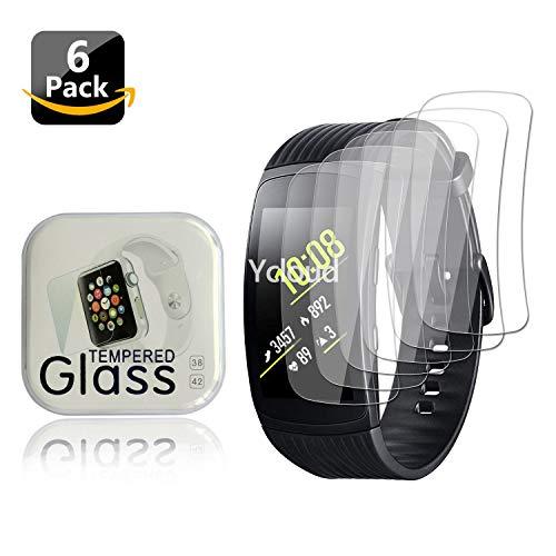 Ycloud [6 Stück PET Schutzfolie Bildschirmschutzfolie für Samsung Gear Fit2 Pro SM-R365 Smartwatch HD klar Flexible Folie mit Anti-Kratzer Blasenfrei