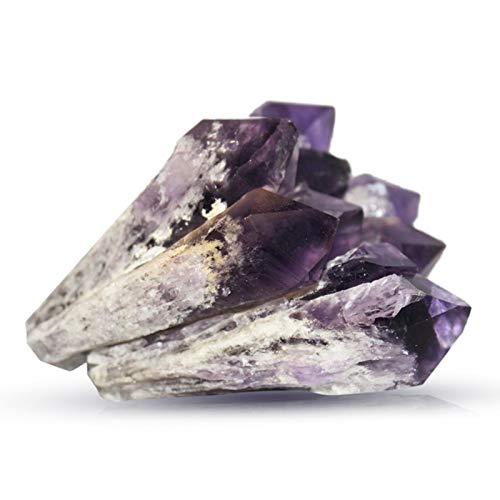 Piedra curativa de la varita de cristal de la vara del cristal de cuarzo de piedra original triturada de hueso pequeño 100 amatista