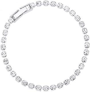 Peora Women Alloy Sleek Tennis Style Bracelet, 18 cm