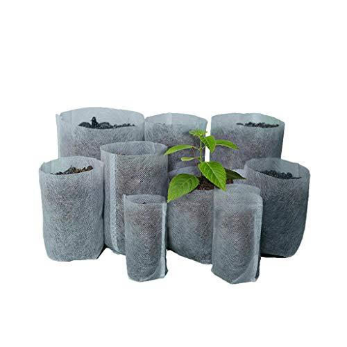 Pflanzsack aus Vliesstoff,100 Stück Pflanzbeutel, Pflanzen Tasche dauerhaft AtmungsaktivBeutel Gemüse Grow Bag Pflanztasche Garten Sack aus Fliesstoff Pflanzgefäß Pflanzbehälter