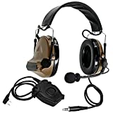 HEARINGSPORT Tactical Headset COMTACII Headset Equipped with PTT Adapter
