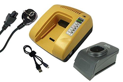 PowerSmart® Schnellladegerät für Ryobi B-8288, BID-1801M, BID-180L, BID1821, BIW180, CAD-180L, CAG-180M, CAP-1801M, CAP1801M, CBI1442D, CCC-1801M, CCC-180L (Gelb)