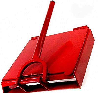 Made in Mexico Red Manual Flower/Corn All Metal Tortilla Maker Press 12x12 inch Square