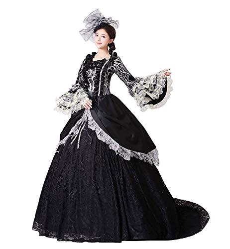 KEMAO Vestidos de baile de corte rococó barroco maría antoinette del siglo XVIII del renacimiento histórico vestido para mujer