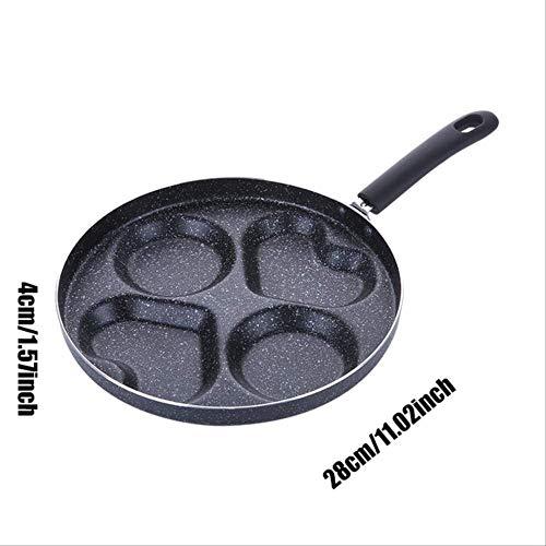 Siyao Pan 4 Gaten Omelet Pan voor Eieren Ham Pannenkoek Maker Frying Pans Creative Anti-aanbaklaag Geen Olie-Smoke Ontbijt Grill Pan Koken Pot Type 2