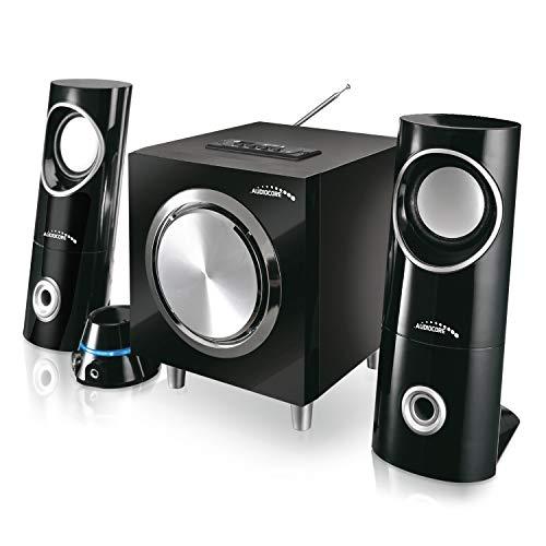 Audiocore AC790 2.1 Multimedia-Lautsprecher Lautsprechersystem 15W (R.M.S.) Lautsprecher Subwoofer Bluetooth Radio AUX SD-Kartenslot USB