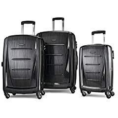 """3 PIECE SET contains: 20"""" Carry On (meets carry-on size restrictions for those traveling domestically and looking to stay light) and 24""""/28"""" Spinners (maximize your packing power and the ideal checked bags for longer trips) 10 YEAR LIMITED WARRANTY: ..."""