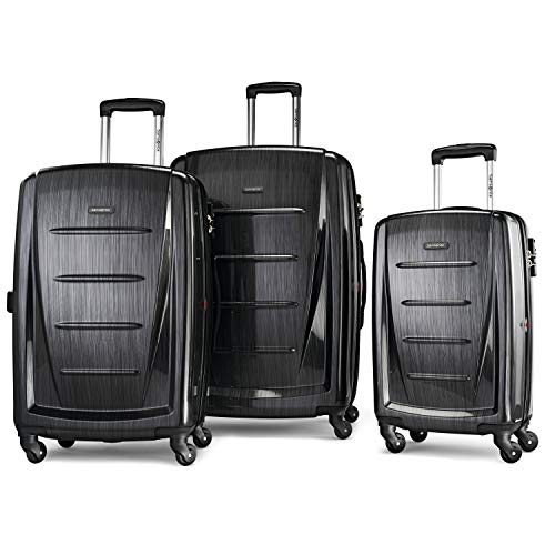 Samsonite Winfield 2 Hardside Expandable Luggage with Spinner Wheels, Brushed Anthracite, 3-Piece Set (20/24/28)