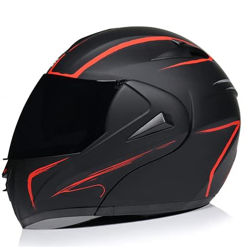 Casque de moto intégral pour dirt bike, VTT, moto, casque de moto pour homme et femme, casque BMX MX Downhill Offroad, certification DOT, casque de motocross (miroir à thé, XL (61-62 cm)