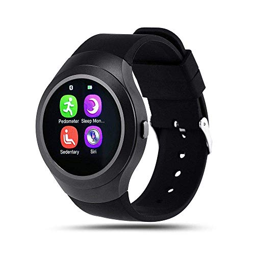 Mabron Bluetooth Smartwatch - HD IPS Round Touch Screen Cell Phone Watch with SIM TF Card Slot for All Smartphones & Tablets