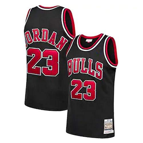 GCZ Jordan Herren Basketball Trikot, Bulls # 23 Swingman Unisex Retro Basketball Trikots Westen Tops Mesh Polo T-Shirt (S-XXL) Black-S