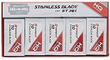 Dorco - Set de 100 recambios para cuchilla de afeitar (doble filo, acero...
