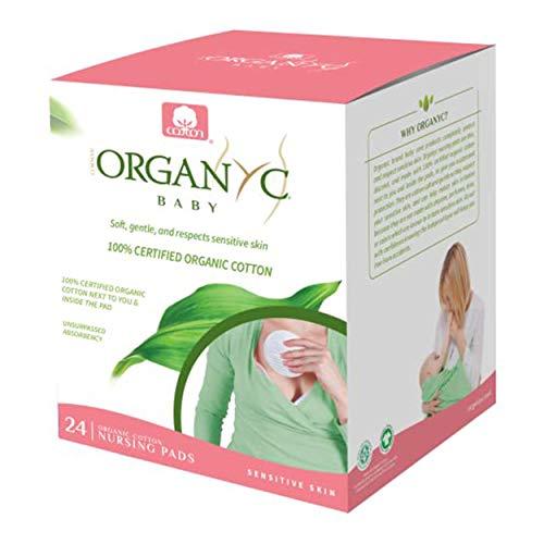 Organyc 100% Organic Cotton Nursing Pads for Sensitive Skin, 24 Count