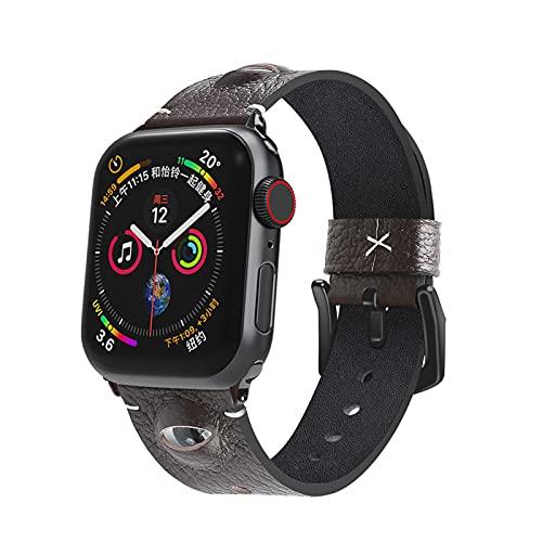 Compatible para Apple Watch Correa 38mm 40mm 42mm 44mm Forma de Ojo Reemplazo de Cuero Premium Correas de Reloj Inteligente para Iwatch Series 6 5 4 3 2 1,42mm/44mm