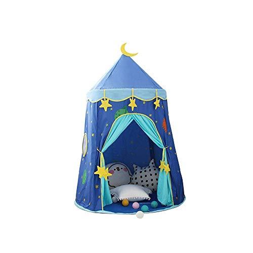 SYXX Kinderzelt, Innenkinder Teepee, tragbares Kinderspielzelt, Big House Indoor Outdoor Sleeping House, Prinzessin Game House, faltbares Zelt for Kinder (Color : Blau)