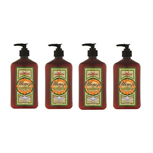 Malibu Tan For Dry Skin Hemp Body Lotion, 18 fl oz (4 Pack)