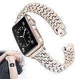 Compatible con Apple Watch Series 6 Correa, Acero Inoxidable...