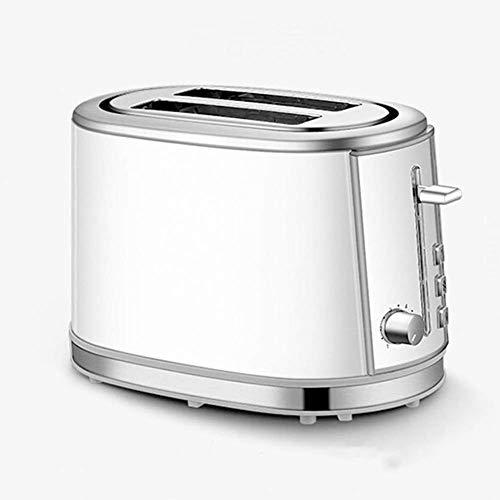 2 rebanadas Tostadora, Máquina de Hogares desayuno Ampliación de ajuste Horno de Siete Etapas máquina de pan con acero inoxidable for hornear en rack Gris 1125 WTZ012