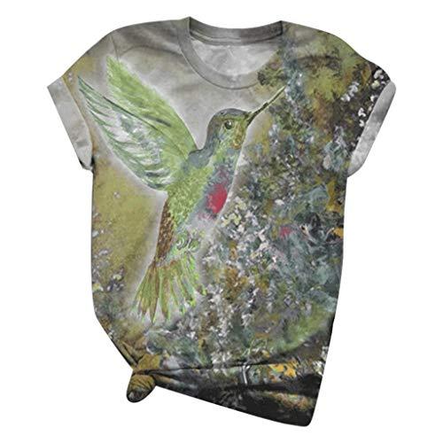 tohole T-Shirt Damen Kurzarm Shirt Atmungsaktiv Oberteile Fitness Gym Top Casual T-Shirt Basics Blouse Fashion Crewneck Pullover Tee