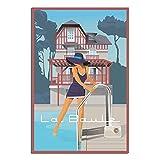 ASFGH La Baule Les Pins - Póster de estilo vintage para...